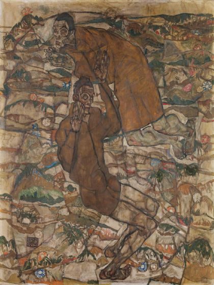 Schiele, Egon: Levitation (The Blind II). Fine Art Print/Poster (003687)